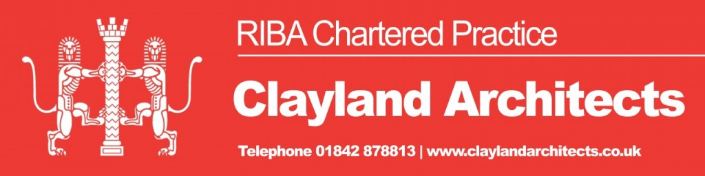 Clayland RIBA sign board